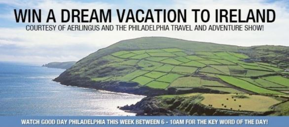 FOX 29 Contest - Aer Lingus Ireland Trip Watch and Win Giveaway