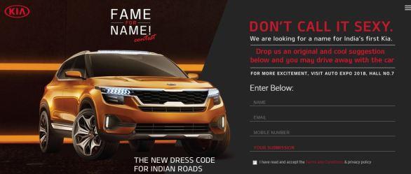 Kia Motors Fame for Name Contest