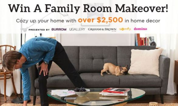 UGallery Family Room Makeover Sweepstakes