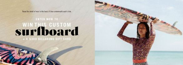 Billabong Sun Tribe Surfboard Sweepstakes