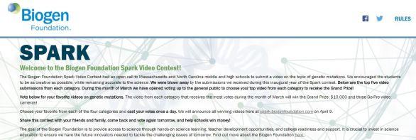 Biogen Foundation Spark Video Contest
