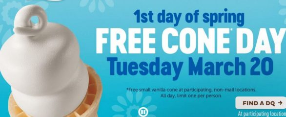Dairy Queen Free Cone Day Giveaway