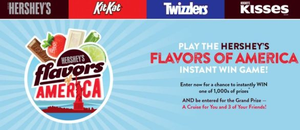 Hershey Flavors of America Instant Win Sweepstakes - Offers