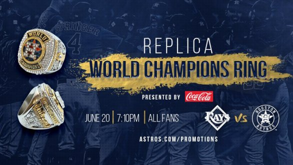 Houston Astros Replica Ring Giveaway