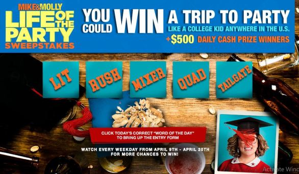 Mike & Molly Life of the Party Sweepstakes