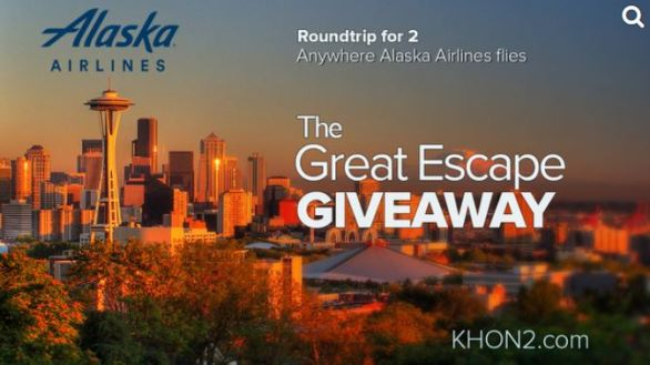 Alaska Airlines Great Escape Giveaway