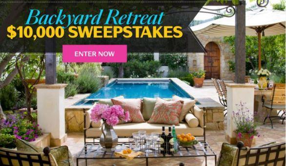 Backyard Retreat $10,000 Sweepstakes