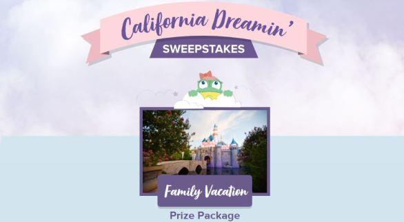 California Dreamin Family Vacation Sweepstakes