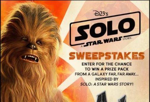 Disney Fan Club D23 Solo Sweepstakes