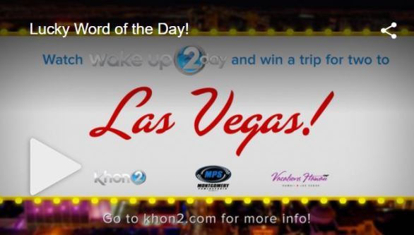 Khon2 Lucky Word of the Day Contest