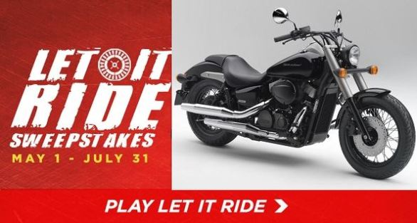 Let It Ride Instant Win Game Sweepstakes