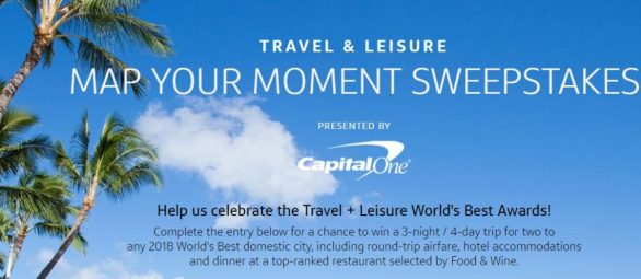 Map Your Moment Sweepstakes