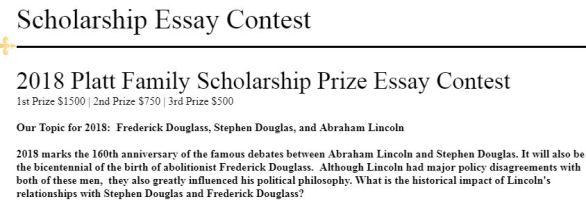 Platt Family Scholarship Prize Essay Contest