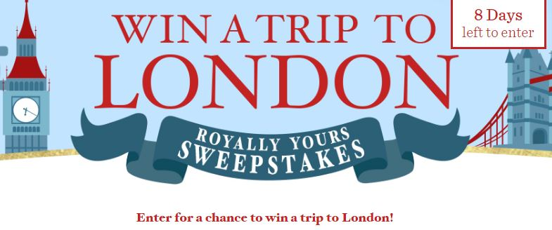 Trip to london sweepstakes 2018