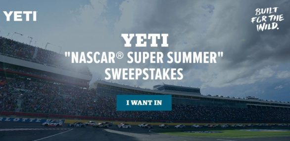 YETI NASCAR Super Summer Sweepstakes