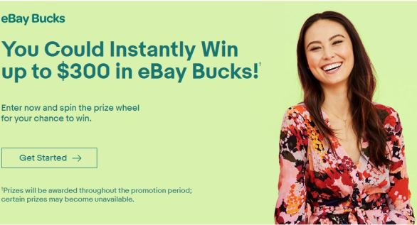 eBay Bucks Instant Win Game