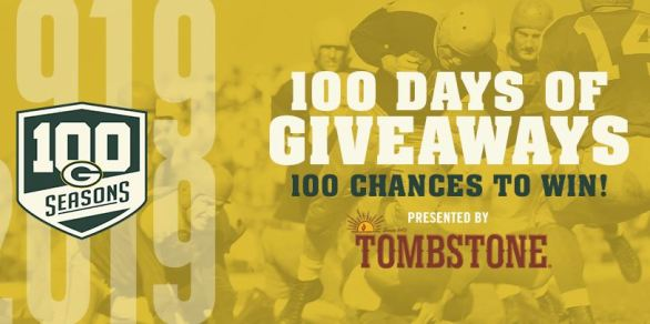 Green Bay Packers 100 Days of Giveaways