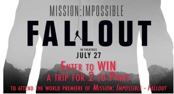 KDVR Mission Impossible Fallout Contest