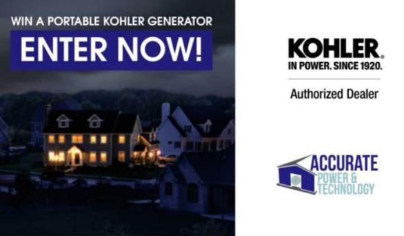 Kohler Generator Giveaway Contest
