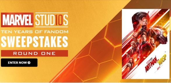 Marvel Studios 10 Years Of Fandom Sweepstakes