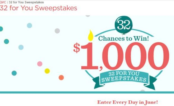 QVC 32 For You Sweepstakes