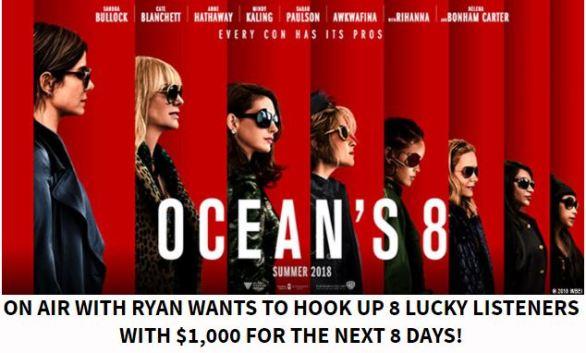 Ryan Seacrest's Ocean's 8 Days Sweepstakes