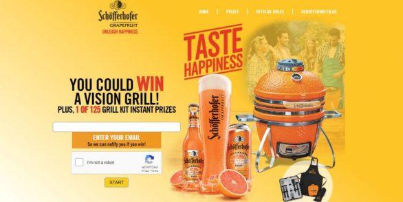 Schofferhofer Grapefruit Taste Happiness Sweepstakes