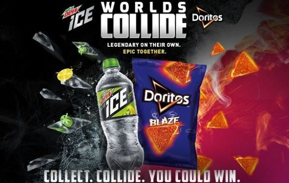 Worlds Collide Mtn Dew ICE and Doritos