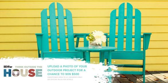 Behr Think Outside the House Sweepstakes