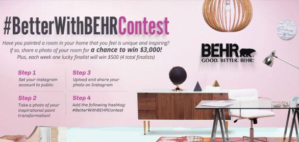 HGTV Better With Behr Contest