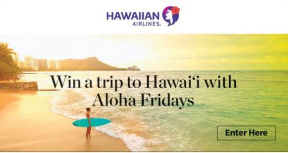 Hawaiian Airlines Aloha Friday Giveaway Sweepstakes