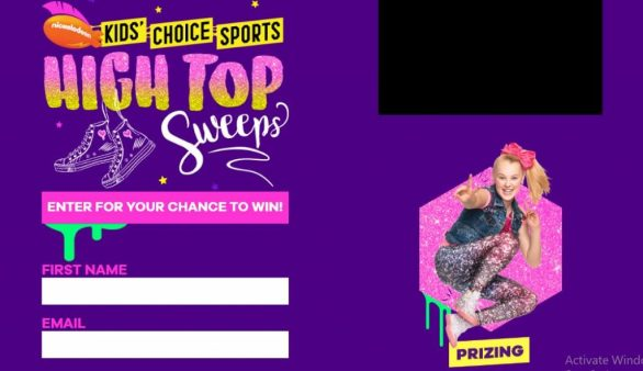 Kids Choice Sports High Top Sweepstakes