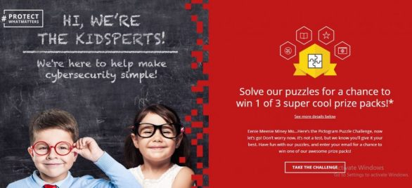 McAfee Kidsperts Pictogram Puzzle Sweepstakes