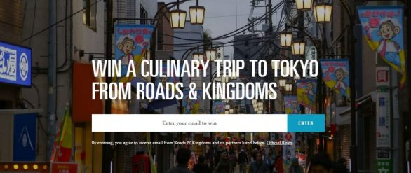 Roads and Kingdoms Tokyo Sweepstakes