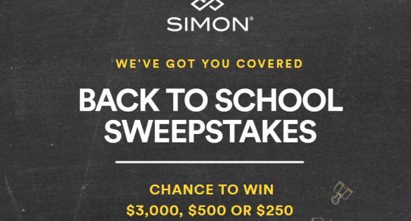 Simon Malls Back To School Sweepstakes