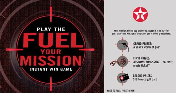 Texaco Fuel Your Mission Instant Win