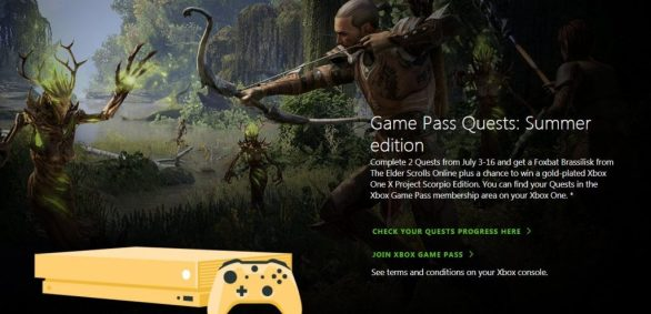 Xbox Game Pass Quests Sweepstakes