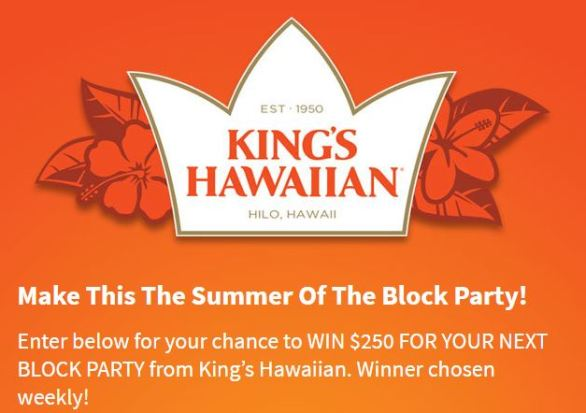 Z100 Kings Hawaiian Ultimate Block Party Sweepstakes Contest