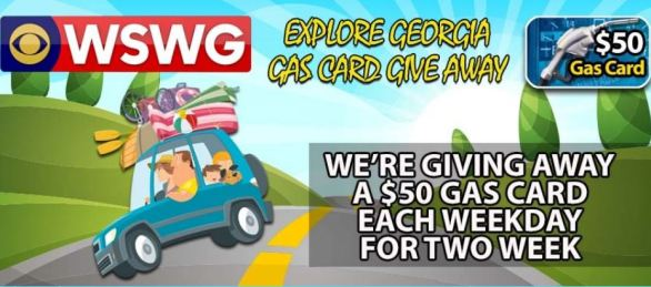 WSWG Explore Georgia Gas Card Giveaway Contest