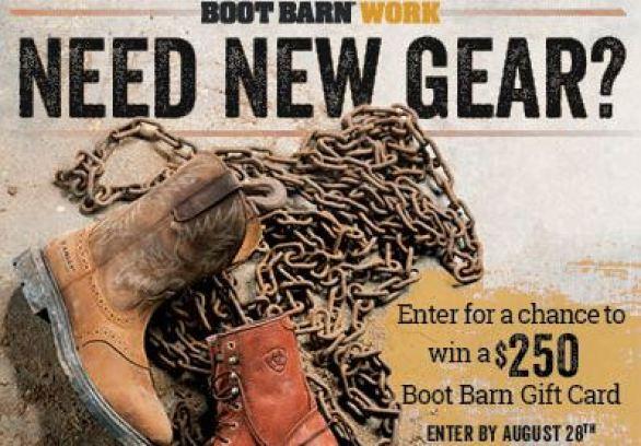 Boot Barn On the Job Sweepstakes