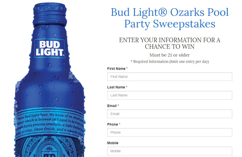 Ozarks first contests and sweepstakes