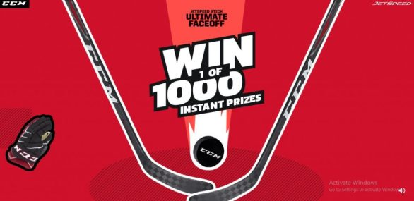 CCM Hockey Jetspeed Stick Ultimate Faceoff Sweepstakes