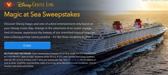 Disney Magic At Sea Sweepstakes