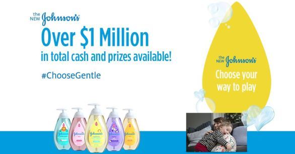 Johnson's Choose Gentle Sweepstakes and Instant Win Game