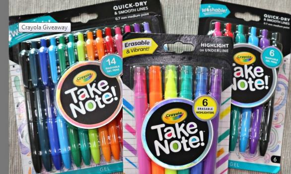 Parenting Healthy Crayola Take Note Product Bundle Giveaway