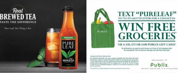 Pure Leaf Publix Free Grocery Sweepstakes