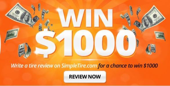 SimpleTire Product Review Sweepstakes