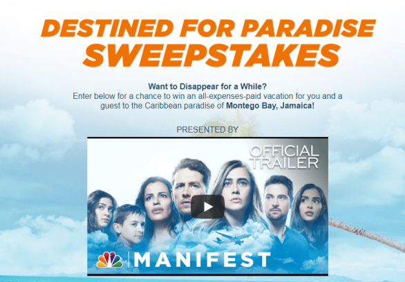 Montego Airways Destined for Paradise Sweepstakes