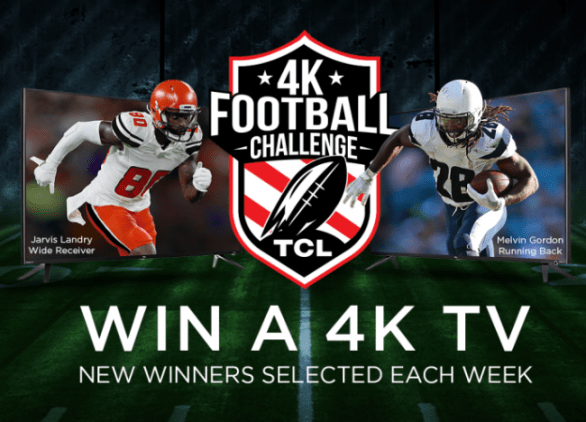 TCL 4K Football Challenge Sweepstakes