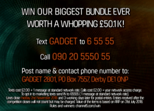 Channel 5 Gadget Show Competition
